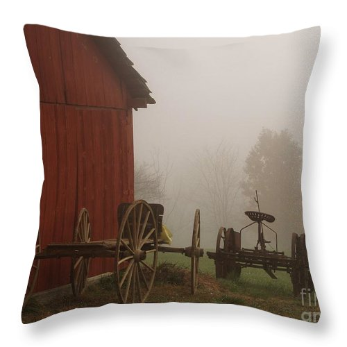 Barn Throw Pillow featuring the photograph Long Day by Carol Sweetwood