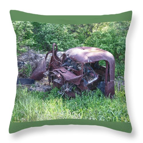 Automobile Throw Pillow featuring the photograph Long Forgotten 2808 by Guy Whiteley