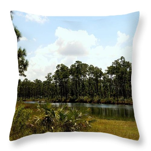 Everglades Throw Pillow featuring the photograph Long Pine Key by John Wall