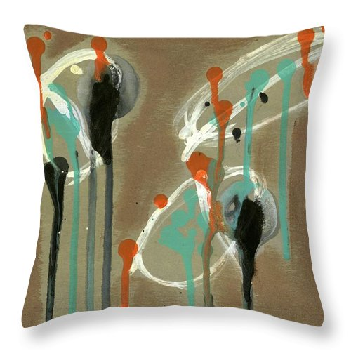 Look Throw Pillow featuring the painting Look by David Jacobi