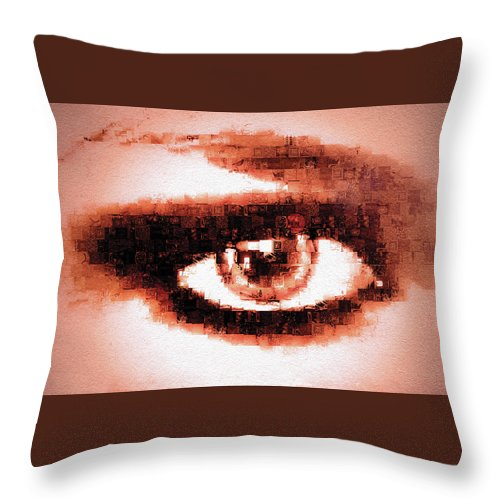 Digital Throw Pillow featuring the digital art Look Into My Eye by Paula Ayers