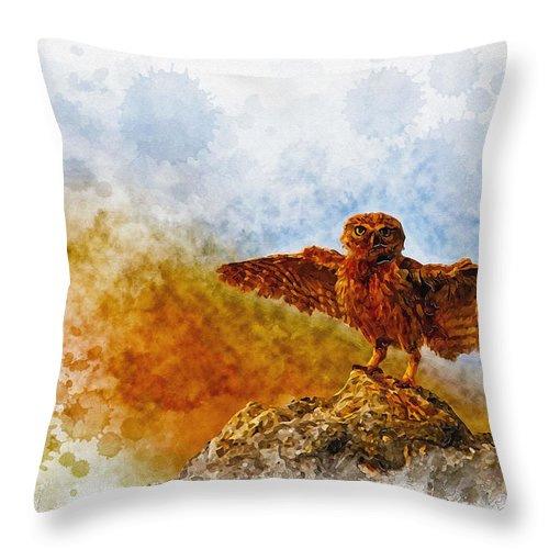 Art & Collectibles Throw Pillow featuring the digital art Attitude.. by Don Kuing
