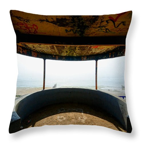 Shoebury Throw Pillow featuring the digital art Look Out Post Interior by Nigel Bangert