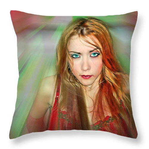 Women Throw Pillow featuring the photograph Looking At You by Francisco Colon