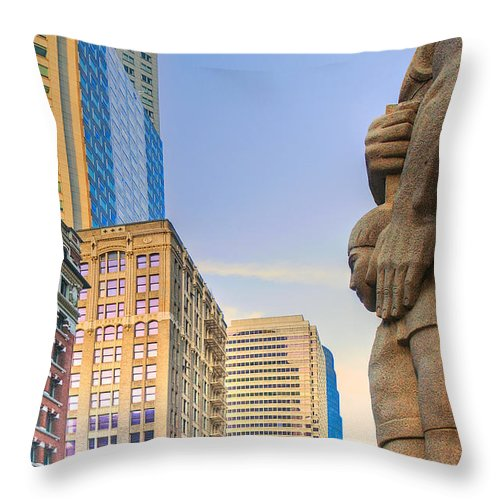 Downtown Throw Pillow featuring the photograph Looking Downtown by Mick Burkey