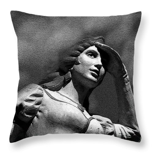 Love Throw Pillow featuring the painting Looking For Love by David Lee Thompson