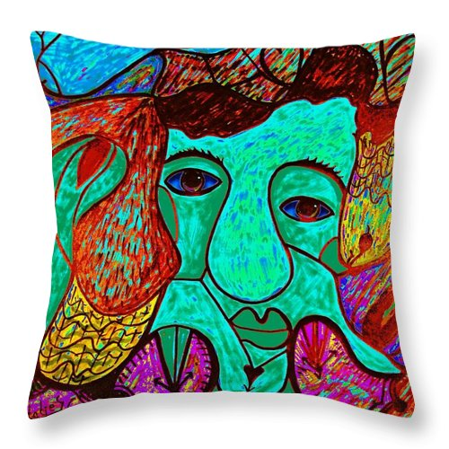 Man Throw Pillow featuring the painting Looking For Love by Natalie Holland