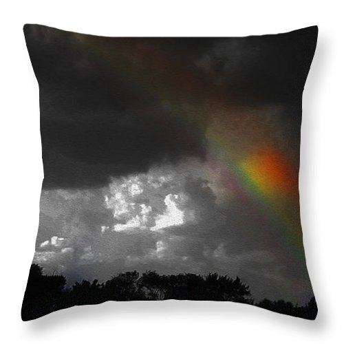 Looking For The Rainbow Throw Pillow for Sale by Robert J Sadler