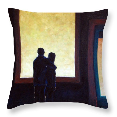 Pranke Throw Pillow featuring the painting Looking In Looking Out by Richard T Pranke