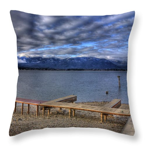 Landscape Throw Pillow featuring the photograph Looking North From 41 South 2 by Lee Santa