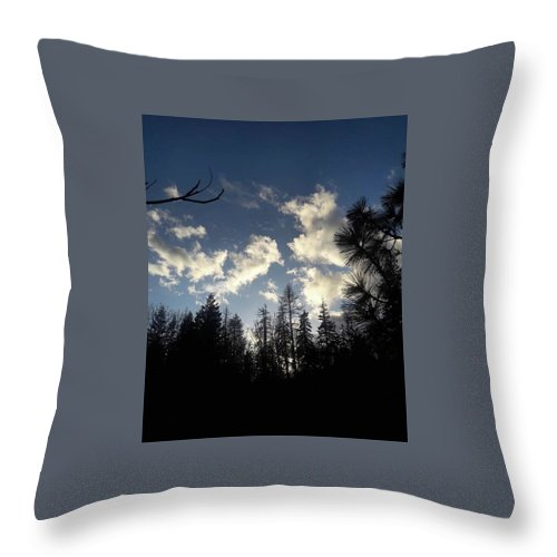 Clouds Throw Pillow featuring the photograph Looking To The Sky by Shawna Walker