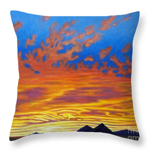 Landscape Throw Pillow featuring the painting Looking To The Southwest by Brian Commerford
