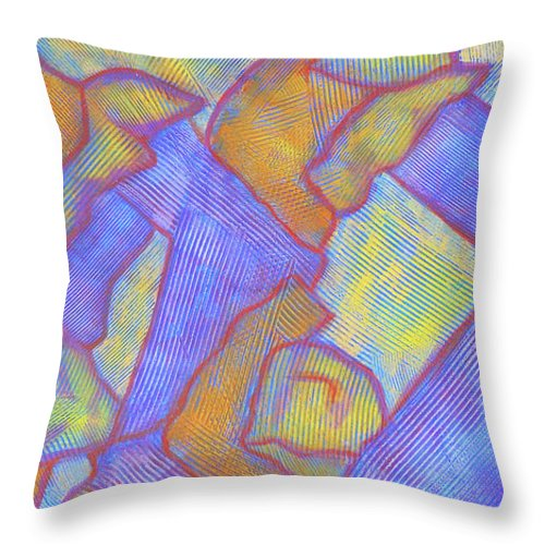 Abstract Throw Pillow featuring the painting Looking Up by Bobby Jones