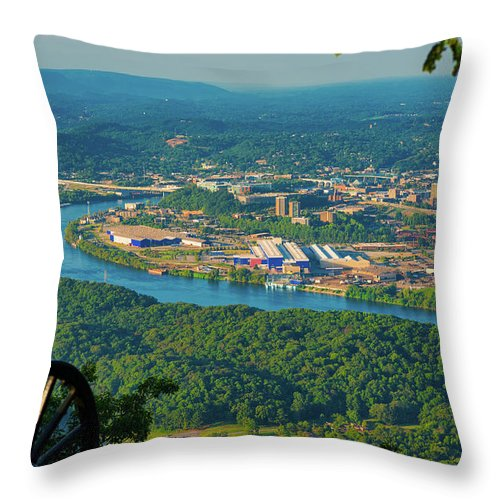 Chattanooga Throw Pillow featuring the photograph Lookout Mountain Vantage by Kenneth Sponsler