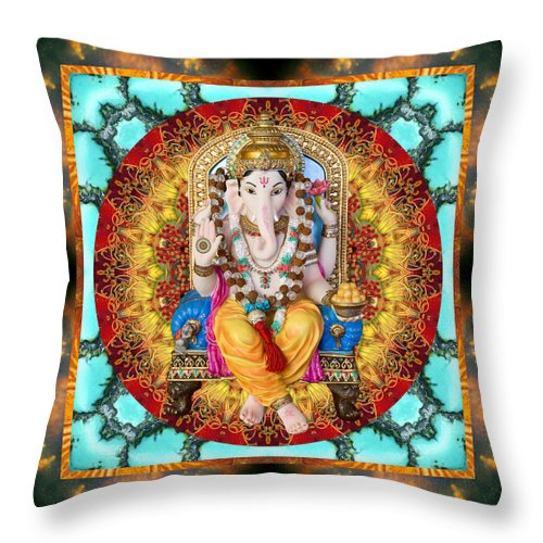 Ganesh Throw Pillow featuring the photograph Lord Generosity by Bell And Todd