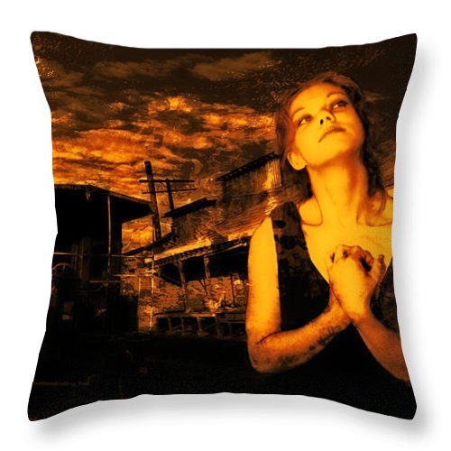 Iraq Throw Pillow featuring the photograph Lord Let Him Come Home From Iraq by Jeff Burgess