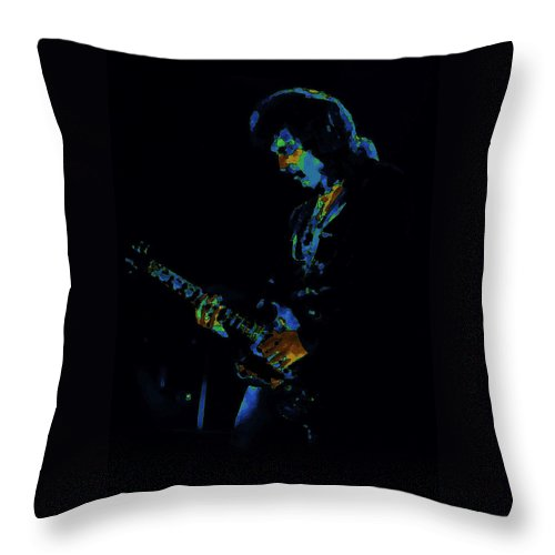 Black Sabbath Throw Pillow featuring the photograph Lord of the Cosmic Blue World by Ben Upham