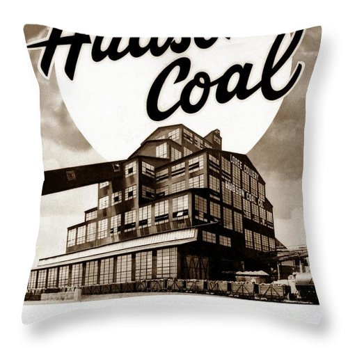 Loree Colliery Throw Pillow featuring the photograph Loree Colliery Larksville Pa. Hudson Coal Co by Arthur Miller