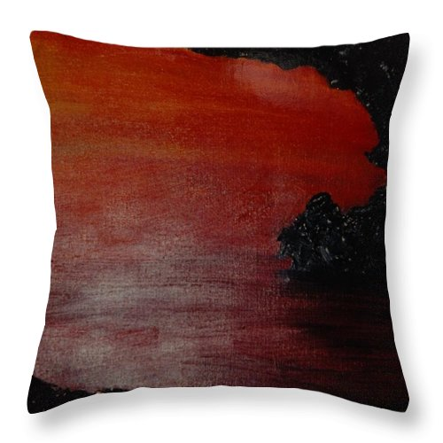 Painting Throw Pillow featuring the photograph Lori's World by Rob Hans