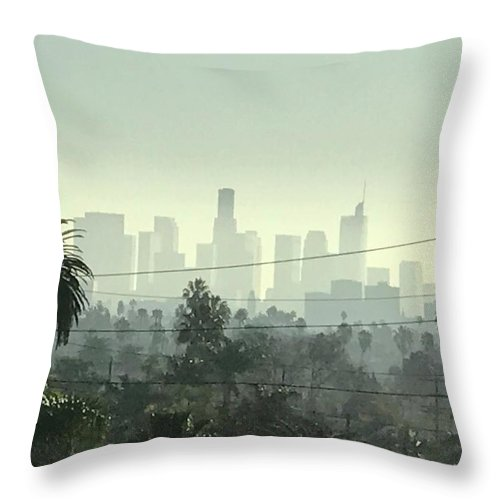 La Throw Pillow featuring the photograph Los Angeles Morning by YourRadioFriend