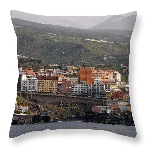 Valasretki Throw Pillow featuring the photograph Los Gigantes From The Sea 2 by Jouko Lehto
