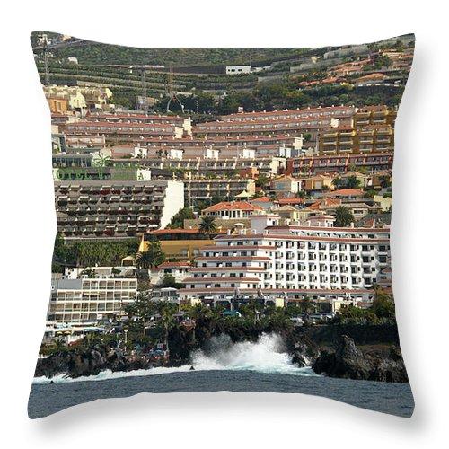 Valasretki Throw Pillow featuring the photograph Los Gigantes From The Sea by Jouko Lehto