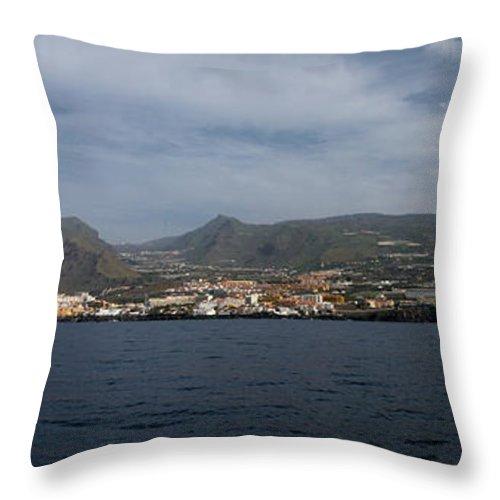 Valasretki Throw Pillow featuring the photograph Los Gigantes Panorama 2 by Jouko Lehto