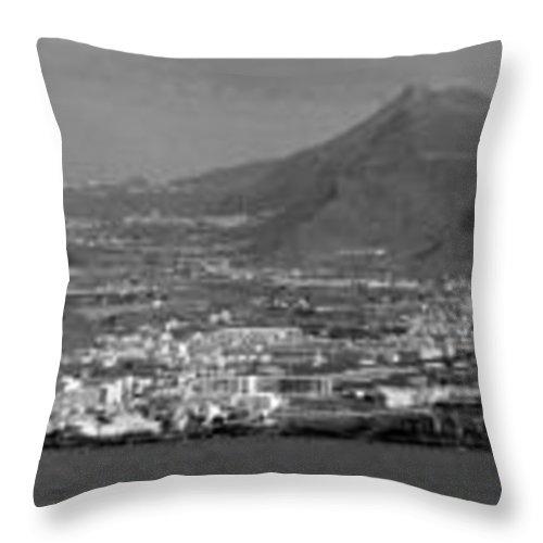 Valasretki Throw Pillow featuring the photograph Los Gigantes Panorama 3 by Jouko Lehto