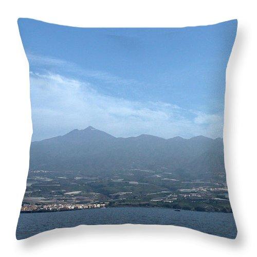 Valasretki Throw Pillow featuring the photograph Los Gigantes Panorama by Jouko Lehto