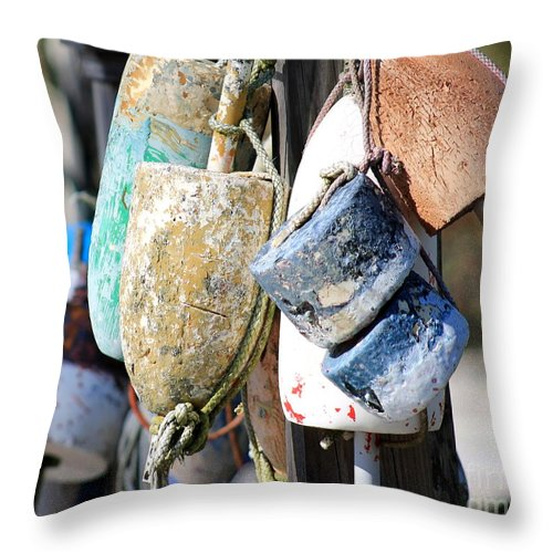 Blue Throw Pillow featuring the photograph Lost And Found by Melanie Steffe