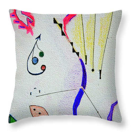 Abstract Throw Pillow featuring the mixed media Lost Directions by J R Seymour