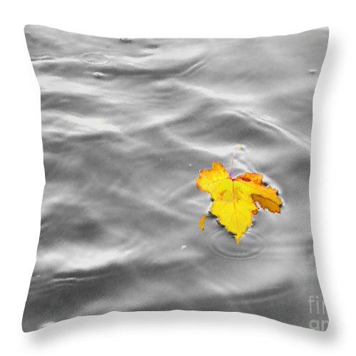 Abstract Throw Pillow featuring the mixed media Lost by September Stone