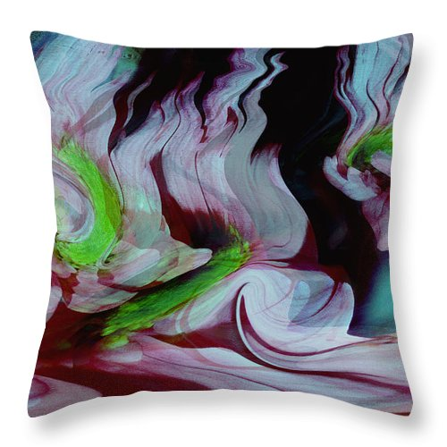 Dream Art Throw Pillow featuring the digital art Lost In A Dream by Linda Sannuti
