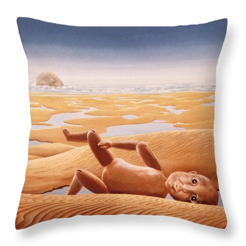 Surreal Throw Pillow featuring the painting Lost In A Dream by Mark Cawood