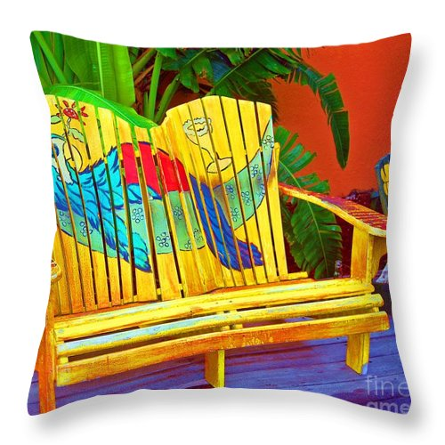 Tropical Throw Pillow featuring the photograph Lost Shaker of Salt 2 by Debbi Granruth