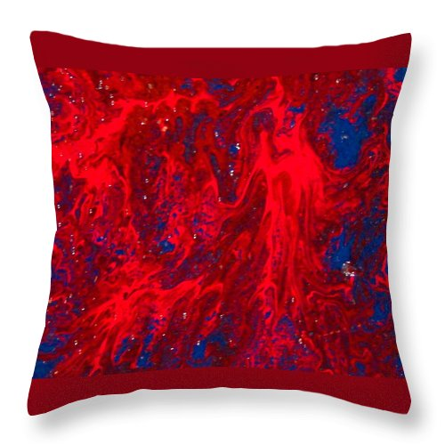 Abstract Art Throw Pillow featuring the painting Lost Souls by Natalie Holland