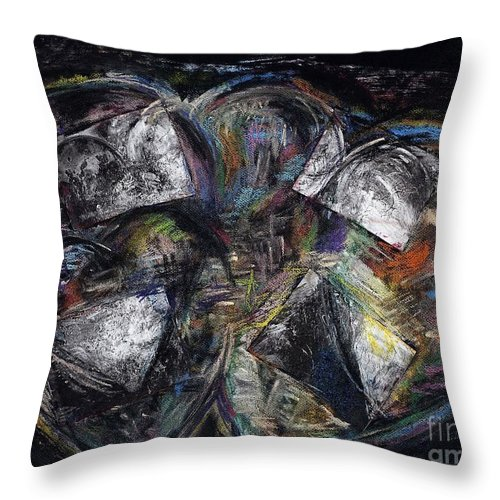 Abstract Heart Throw Pillow featuring the painting Lots Of Heart by Frances Marino