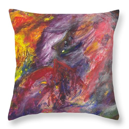 Abstract Painting Throw Pillow featuring the painting Lot's Wife by Ivonne Sequera