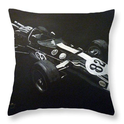 Lotus 38 Throw Pillow featuring the painting Lotus 38 No82 by Richard Le Page