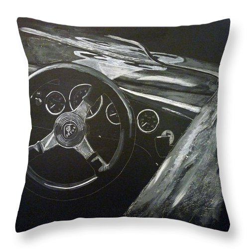 Lotus Eleven Throw Pillow featuring the painting Lotus Eleven by Richard Le Page