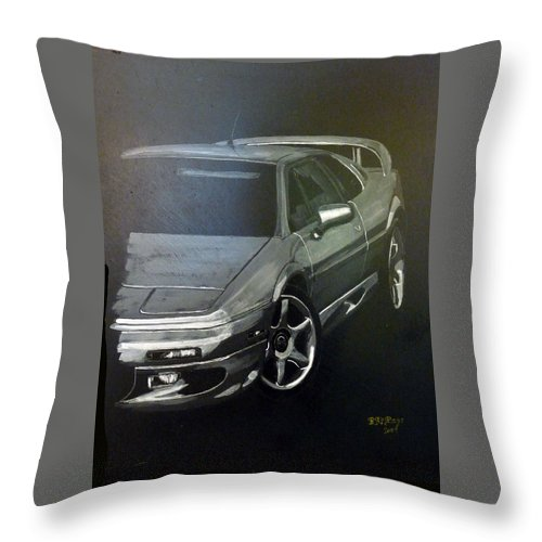 Lotus Esprit Throw Pillow featuring the painting Lotus Esprit by Richard Le Page