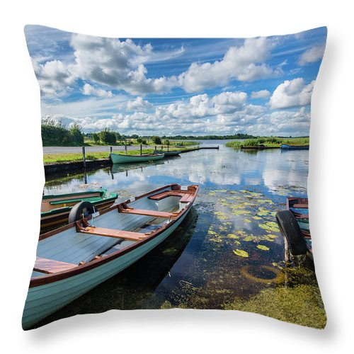 Landscape Throw Pillow featuring the photograph Lough O'Flynn, Roscommon, Ireland by Anthony Lawlor