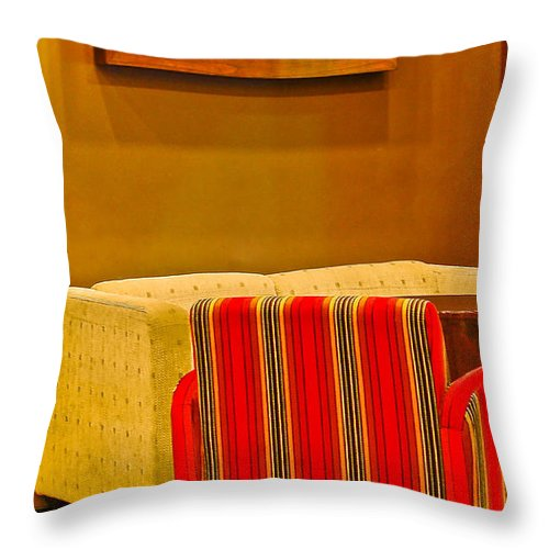Throw Pillow featuring the photograph Lounge by Charuhas Images