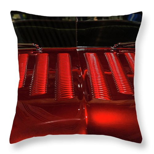 Mercury Throw Pillow featuring the photograph Louvered Hood by Joe Hudspeth