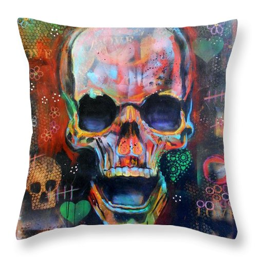 Art Throw Pillow featuring the painting Love And Life by Angie Wright