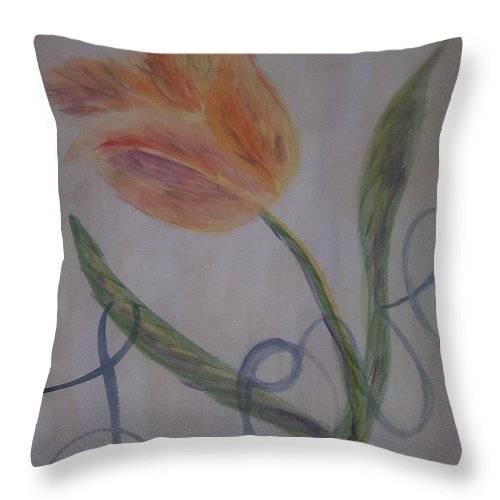 Tulip Throw Pillow featuring the painting Love by Emily Young