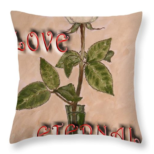 Romance Throw Pillow featuring the painting Love Eternal by Patrick J Murphy