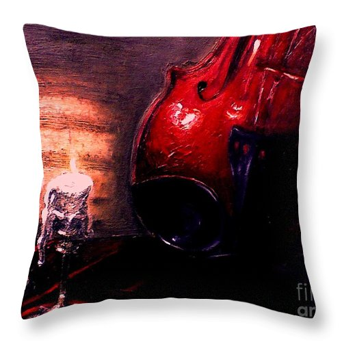 Love Throw Pillow featuring the painting Love For Music by Patricia Awapara