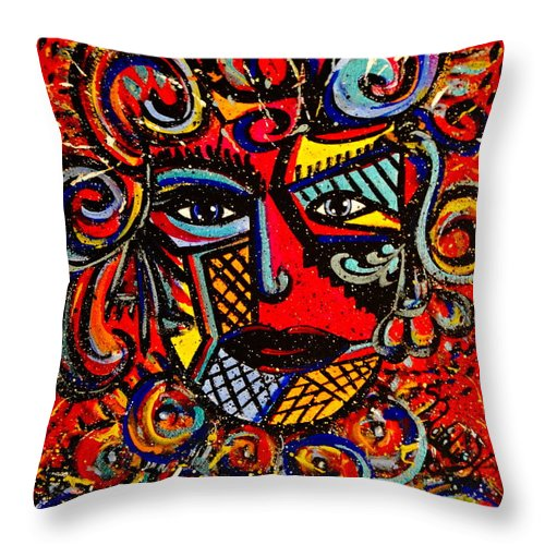 Love Goddess Throw Pillow featuring the painting Love Goddess by Natalie Holland