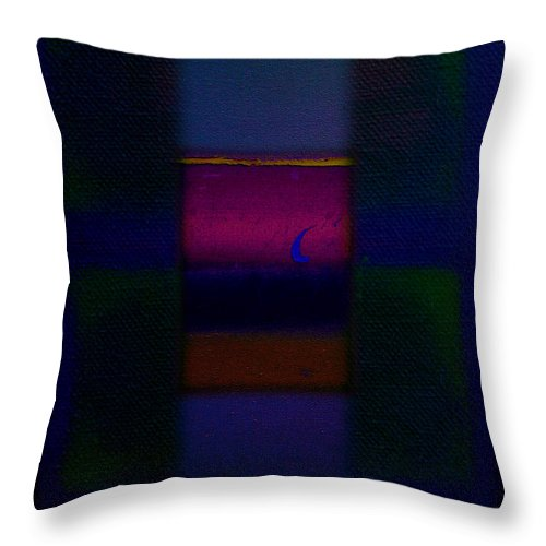 Rothko Throw Pillow featuring the painting Love Is Blue by Charles Stuart